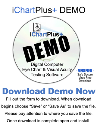 Ichartplus Visual Acuity Digital Eye Chart Testing Software